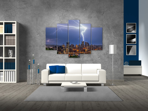 "Purchase your Power Surge Diamond Quintych <a href=""https://www.etsy.com/listing/237914527/power-surge-pittsburgh-skyline-lightning?ref=shop_home_active_5"" target=""_blank""> HERE </a>"