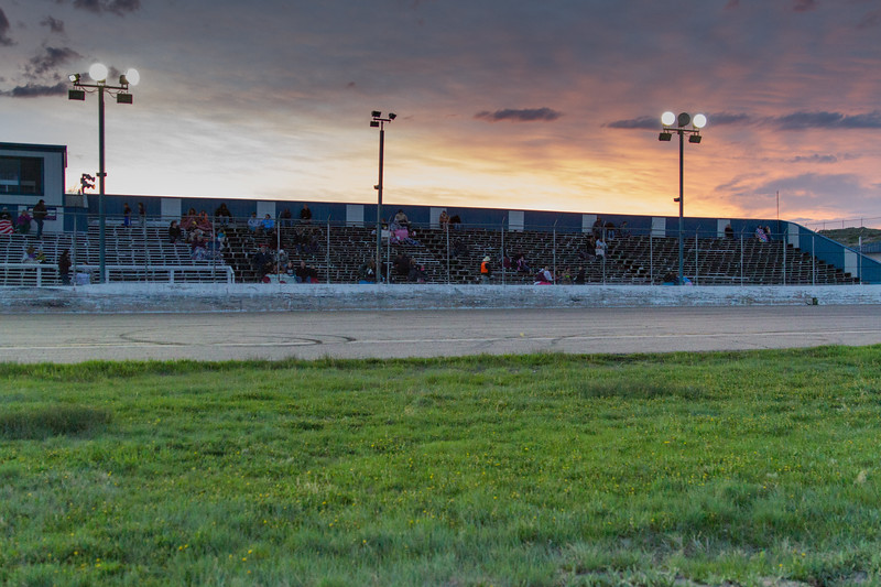 Sunset at Big Country Speedway