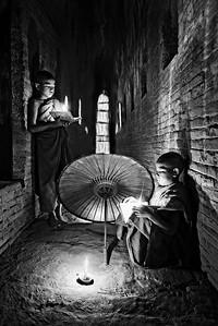 Monks Reading Books