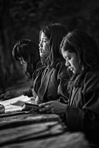 Prayers at Mongar Boarding School