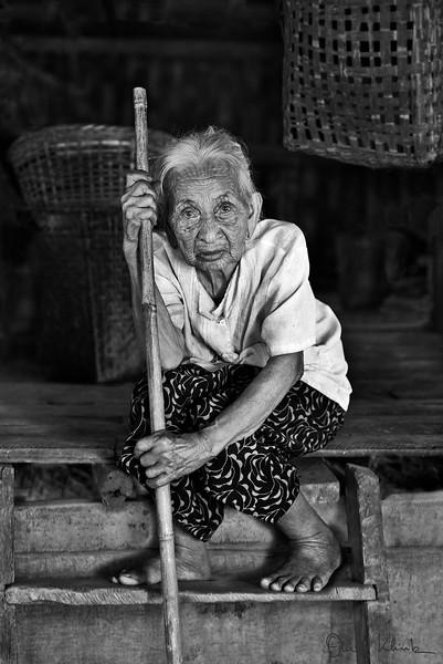 Tattooed-Face Woman, Pan Baung Village