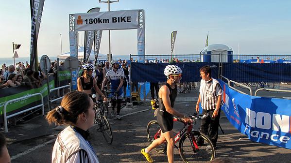 180 Km Bike Start...