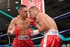 (3.30.2007 - Desert Diamond Casino)  Arturo Brambila scores on Gabriel Martinez during their 8 round Welterweight bout.  Martinez went to win a split decision.