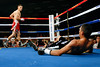 (11.3.2007 -- Tucson, Arizona)  Featherweight Robert Guerrero after knocking down Martin Honorio in the 1st round of their IBF World Championship bout.  The referee stopped the bout and Guerrero successfully defended his belt with a TKO 56 seconds into the 1st round.