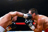 (11.3.2007 -- Tucson, Arizona)  Rocky Juarez lands an overhead right to the head of Juan Manuel Marquez in the 5th round of their World Boxing Council Super Featherweight title bout.  Marquez went on to win a 12 round unanimous decision and successfully defend his title.<br /> <br /> <br /> Images from the November 3, 2007 Golden Boy Productions fight card at the Desert Diamond Casino.