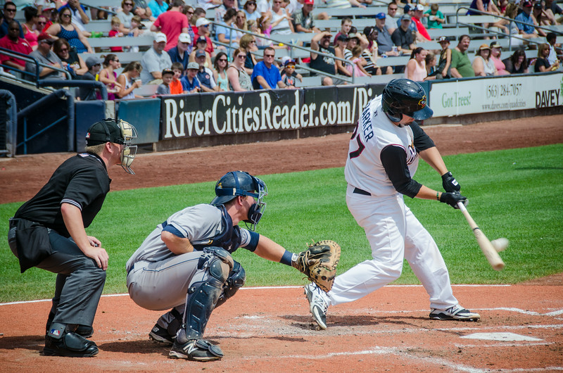 (8.17.2014- Davenport, Iowa) - The Quad City River Bandits v.  Burlington Bees. Burlington won 5-4.