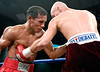 (3.10.2006 --- Desert Diamond Casino)  Ivan Valle lands to the mid-section of William Morelos in their 10 round lightweight bout.