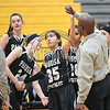 Lamar and Pagosa Springs compete in the 2017 Colorado State High School 3A girls basketball tournament at the University of Denver on March 9, 2017