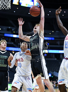 Manual and Bishop Machebeuf play in a conference basketball game at the Pepsi Center in Denver, Colorado on February 13, 2017.