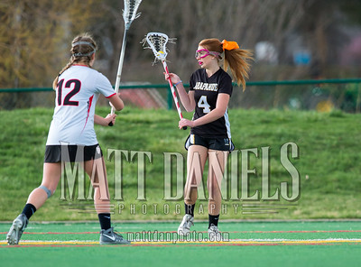 Arapahoe JV girls lacrosse, April 12, 2016 at Colorado Academy.