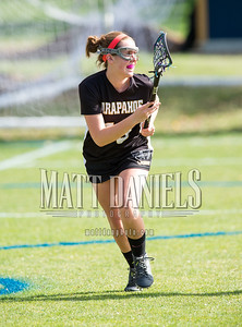 Arapahoe girls lacrosse plays at Mullen High School on April 22,106