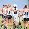 Pine Creek girls lacrosse hosts Liberty High School on April 23, 2016.