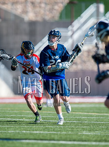 Ponderosa High School boys lacrosse hosts Vail Mountain on April 1, 2016 at Sports Authority Stadium in Parker, Colorado.