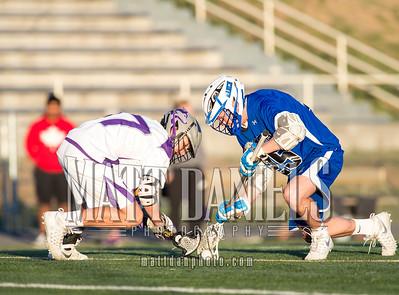 Douglas County lacrosse hosts Highlands Ranch on April 6, 2016 at DC Stadium in Castle Rock, Colorado