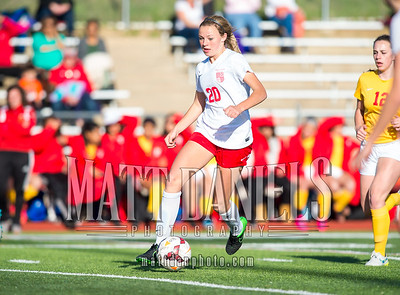 Regis Jesuit hosts Northglenn for the first round of the 2016 CHSAA 5A girls soccer playoffs on May 10, 2016. Regis won by a score of 8-0.