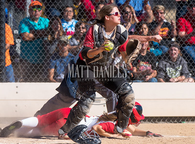 Eaton and Rocky Ford compete in the 2016 Colorado State 3A Softball Quarterfinals on October 22, 2016.