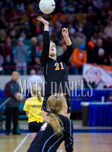 2015 Colorado state high school volleyball tournament at the Denver Coliseum, November 13-14, 2015.