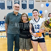 St. Mary's Academy volleyball hosts Lutheran High School on October 11, 2016 at St. Mary's Academy in Denver, Colorado.