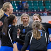 Teams compete on the first day of the 2016 Colorado State Volleyball Tournament at the Denver Coliseum in Denver Colorado. November 11, 2016.