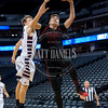 The Strasburg Indians and Frontier Academy Wolverines basketball teams play in a conference game at the Pepsi Center, in Denver Colorado on January 26, 2017.