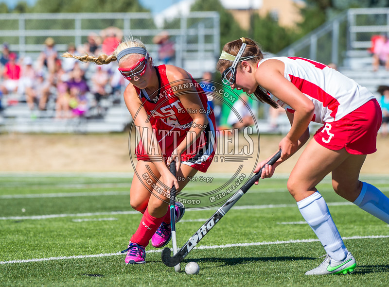 The Regis Jesuit varsity field hockey team hosts Denver East on Saturday, September 10, 2016