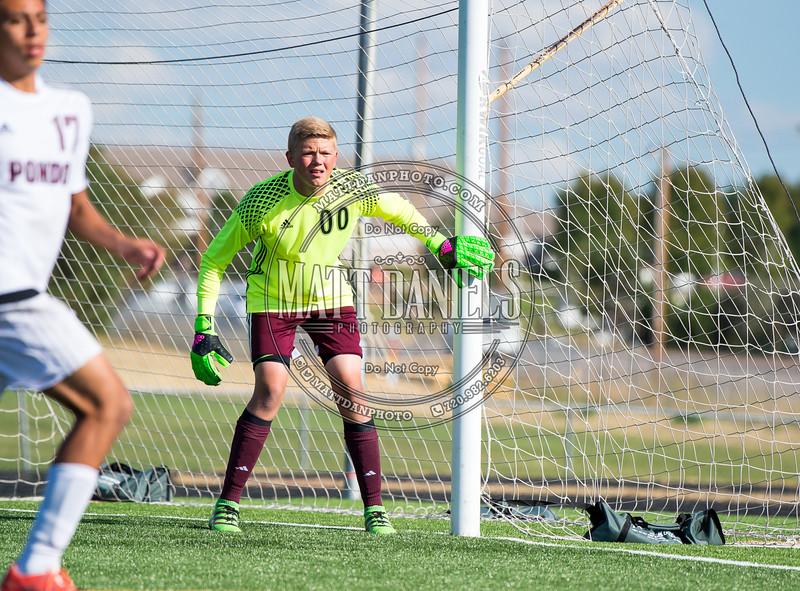 Ponderosa Soccer hosts D'Evelyn on September 16, 2016 at Ponderosa High School in Parker, Colorado