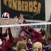 Ponderosa volleyball hosts Cheyenne Mountain in a non-conference match on September 24, 2015