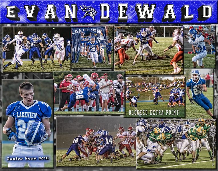Evan Dewald 11 x 14 Collage