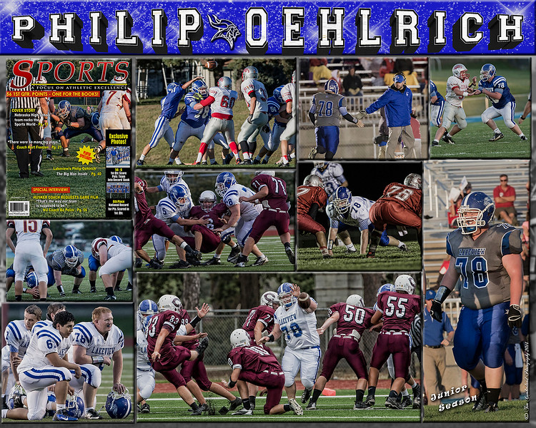 Philip Oehlrich 16 x 20 inch Sports Collage