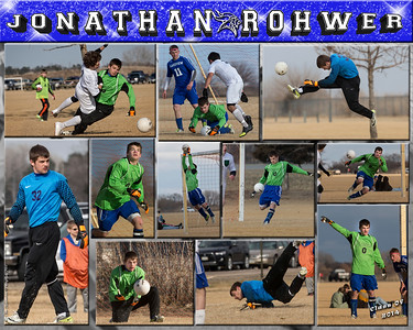 Jonathan Rohwer 16 x 20 Soccer Sports Collage