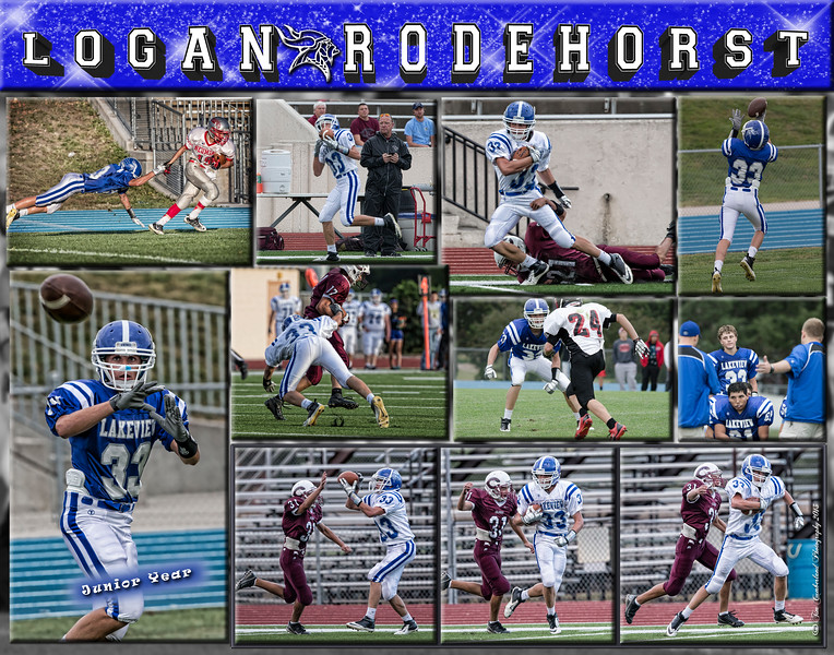 Logan Rodehorst 11 x 14 Football Collage
