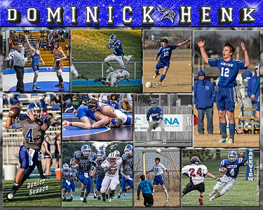 16 x 20 inch Sports Collage Dominick Henk