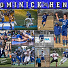 11 x 14 inch Sports Collage Dominick Henk