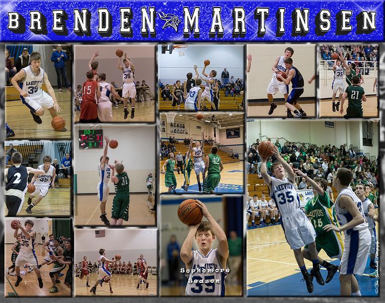 Brenden Martinson 11 x 14 Basketball Collage