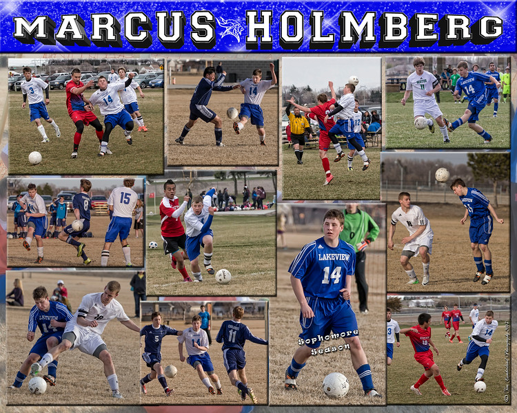 Marcus Holmberg 16 X 20 inch soccer Collage