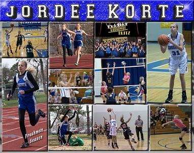 Jordee Kortee 11 x 14 Sports Collage