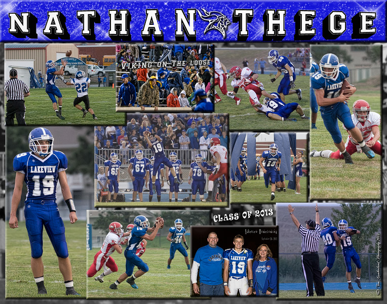 Nathan Thege 11 x 14Football Collage