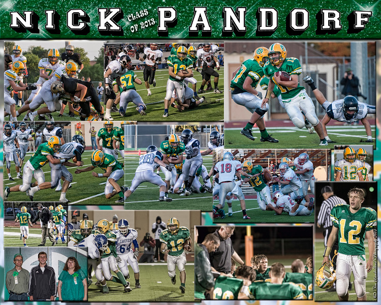 Nick Pandorf 16 X 20 inch Football Collage