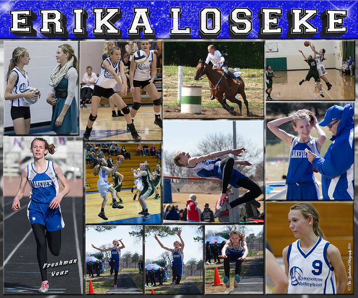 Erika Loseke 20 x 24 Sports Collage