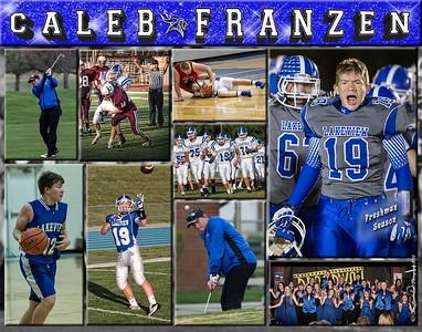 Caleb Franzen 11 x 14 Sports Collage