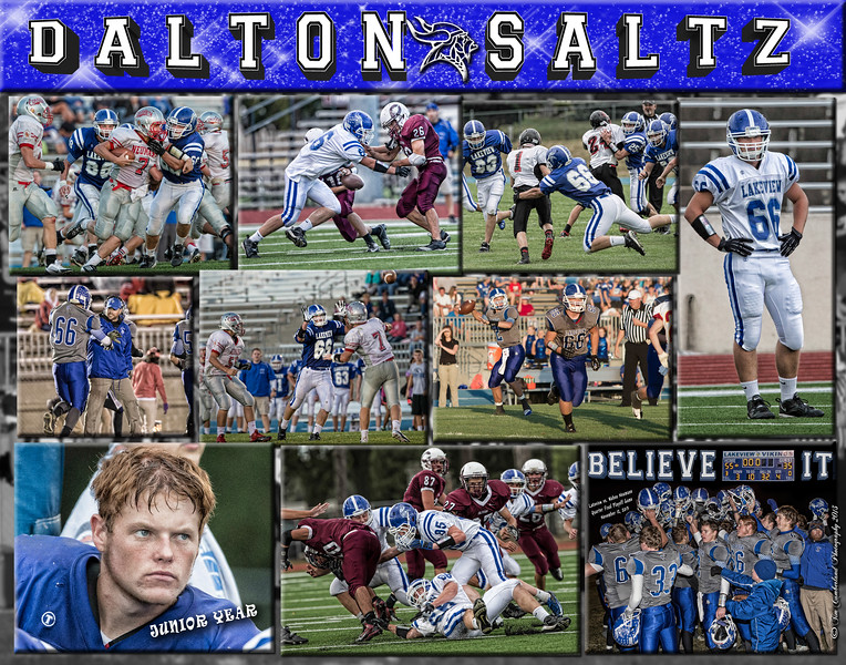 Dalton Saltz 11 x 14 Football Collage