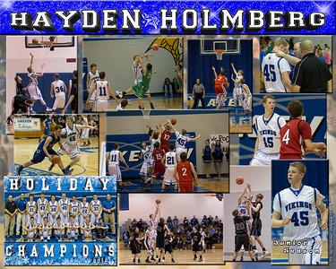 Hayden Holmberg 16 X 20 inch Basketball Sports Collage