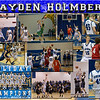 Hayden Holmberg 16 X 20 inch Basketball Sports Collage