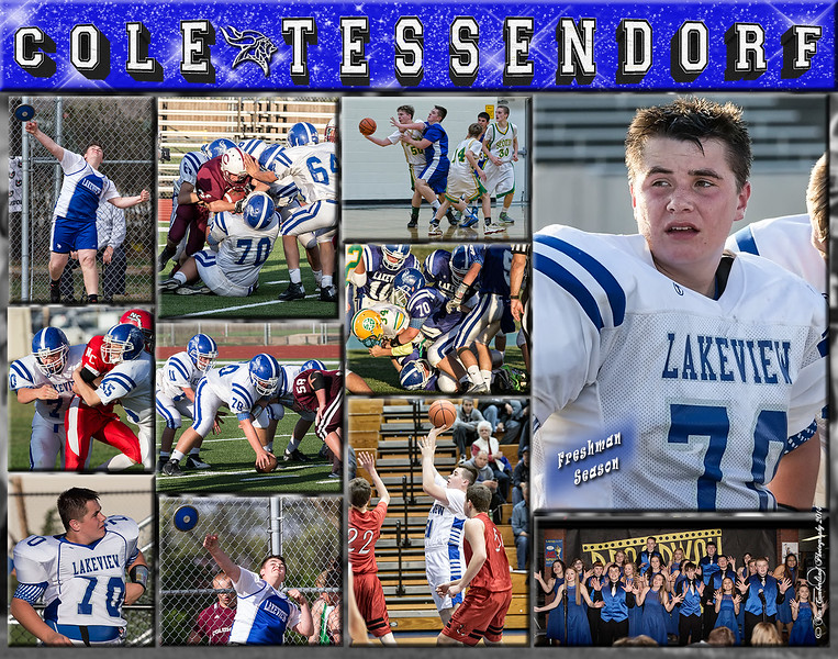 Cole Tessendorf 11 x 14 Sports Collage