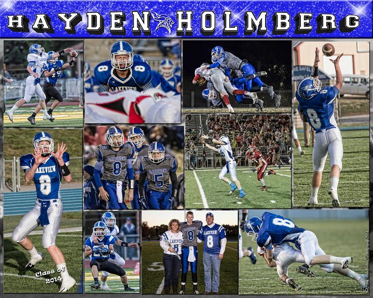 Hayden Holmberg 16 X 20 inch Sports Collage_2013