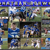Jonathan Rohwer 16 x 20 Football Collage - 2013
