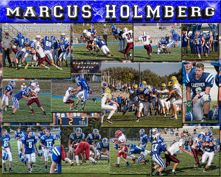 Marcus Holmberg 16 X 20 inch Sports Collage