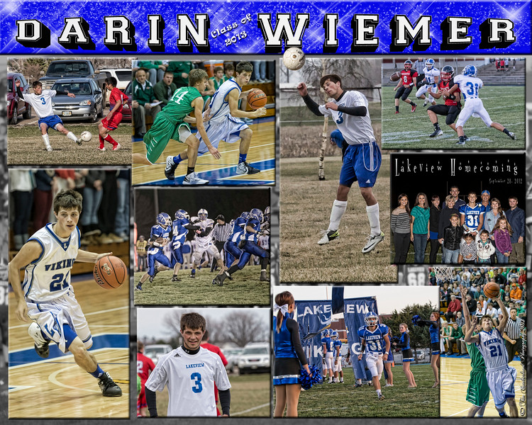 Darin Wiemer 16 X 20 inch Sports Collage