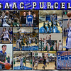 Isaac Purcell 11 x 14 inch Basketball Collage