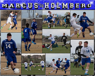 Marcus Holmberg 16 X 20 inch Soccer Sports Collage_2014